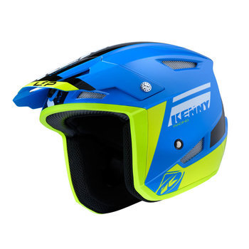 Kenny TRIAL HELM UP Blue / Neon Yellow